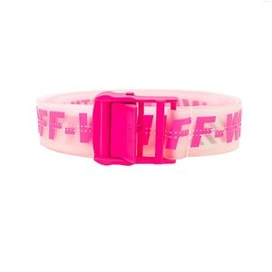 Off-White Rubber Industrial Belt In Fuchsia Fabric